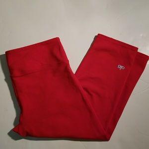 Ola Red crop  leggings size